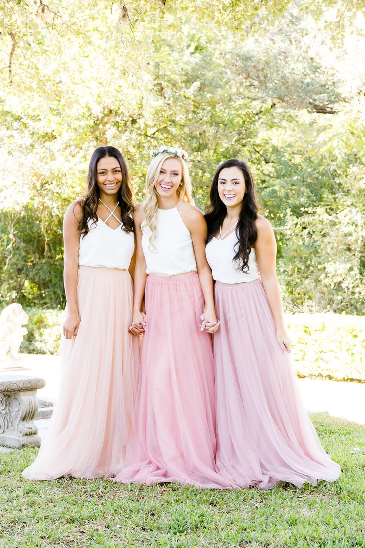 Die besten 25 bridesmaid skirt and top ideen auf pinterest mix and match revelry bridesmaid dresses and separatesvelry has a wide selection of unique bridesmaids dresses including tulle skirts classic chiffon ombrellifo Images