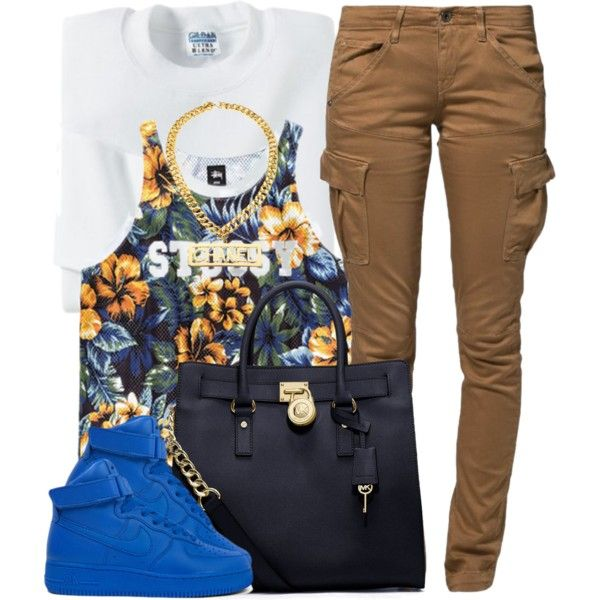 A fashion look from December 2014 featuring G-Star Raw pants, NIKE shoes and MICHAEL Michael Kors tote bags. Browse and shop related looks.