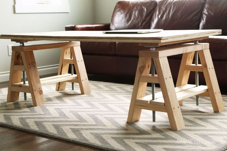 Ana White | Build a Adjustable Height Wood and Metal Stool | Free and Easy DIY Project and Furniture Plans