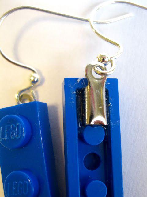 LEGO Earrings - too cute and easy!