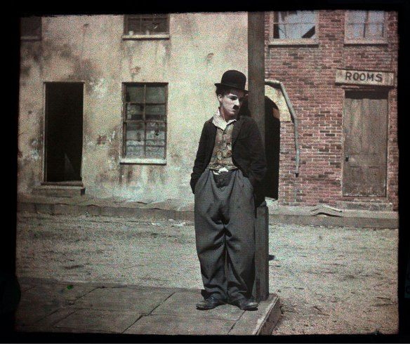Chaplin:: Striking 100 Year Old Autochrome of Charlie Chaplin - LightBox