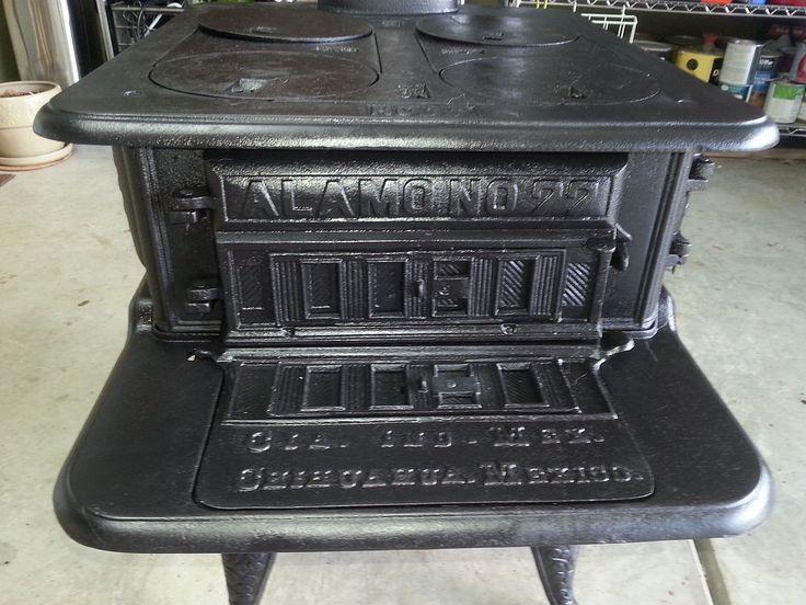 Antique Montgomery Ward Cast Iron Wood Burning Sto