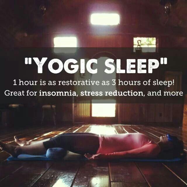"""""""Yogic sleep"""""""