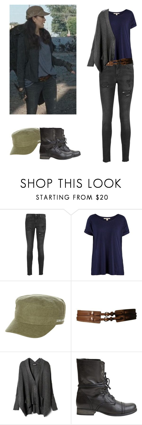 """""""Rosita Espinosa - twd / the walking dead"""" by shadyannon ❤ liked on Polyvore featuring Current/Elliott, Billabong, Etienne Aigner and Steve Madden"""