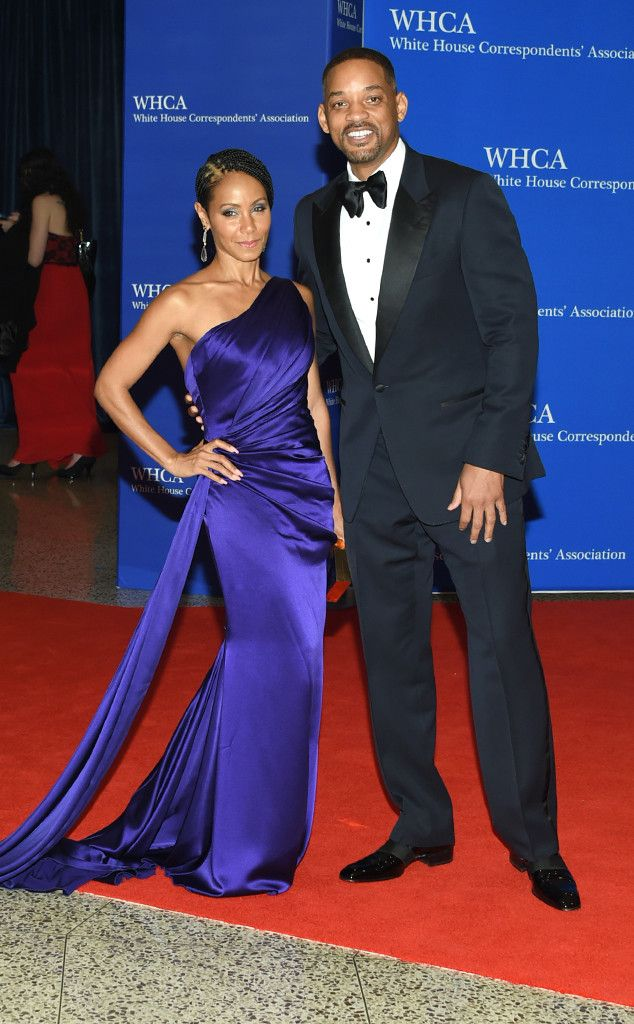 Will Smith & Jada Pinkett Smith from White House Correspondents' Dinner 2016: Star Sightings | E! Online