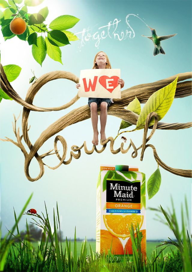 Minute Maid Juice Flourish Advertising Campaign
