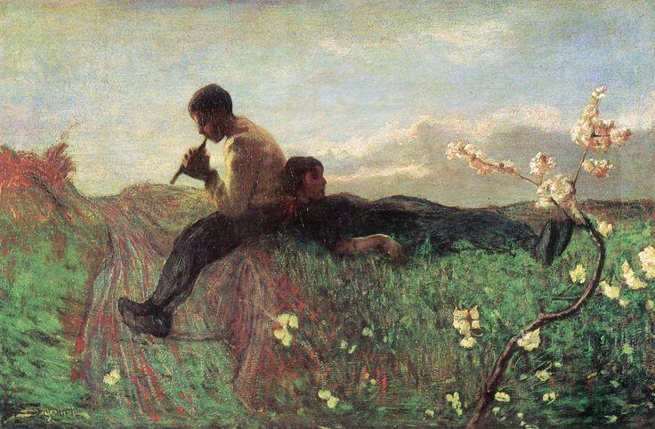 Giovanni Segantini (Arco, 15 gennaio 1858 – monte Schafberg, 28 settembre 1899) - Idillio