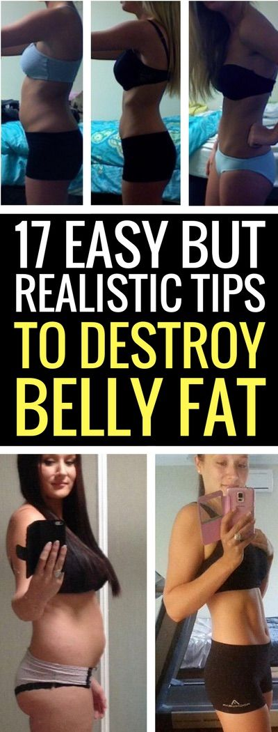 17 ways to lose belly fat.