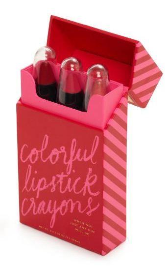 """Kate Spade lipstick """"crayon"""" box set."""