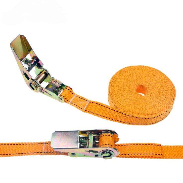 1 stks 2.5 cm * 5 Meters 900 KG Metalen Cargo Sjorren Polyester Webbing Bandjes, Hold Secure Ratel Vastbinden Cam Gesp Lier Riem