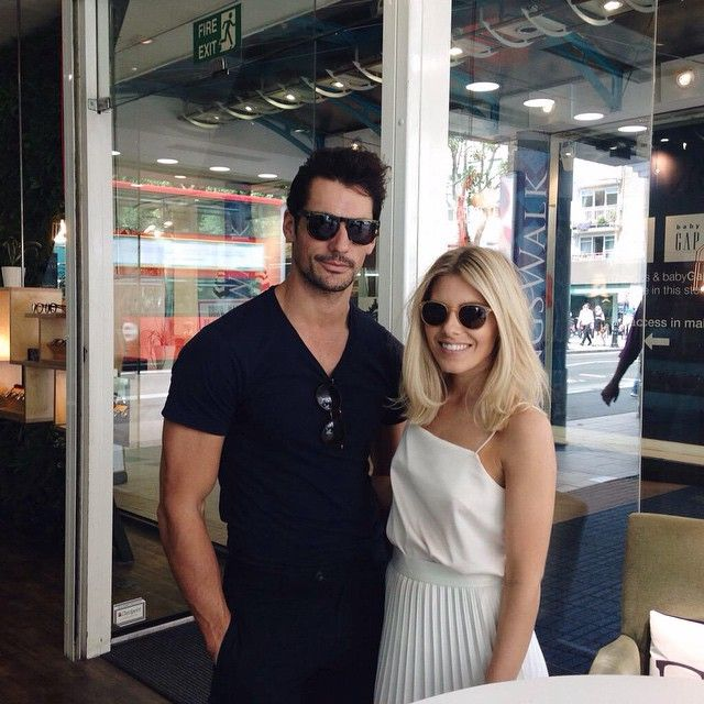 David Gandy & Mollie King in London today (18/06/2015)