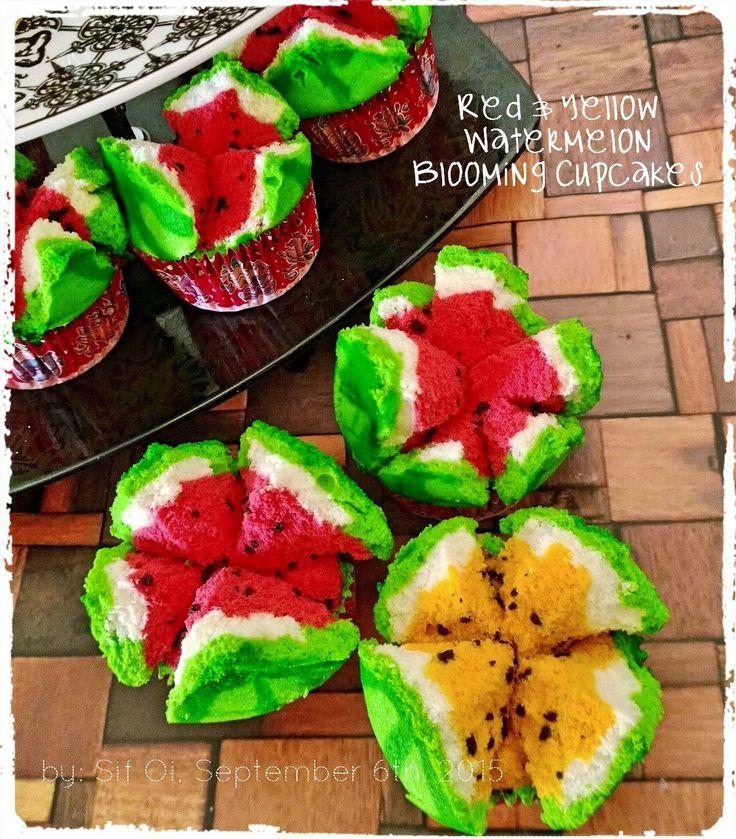I Bake So I Don't Kill People: Bolu Kukus Semangka / Buah Naga