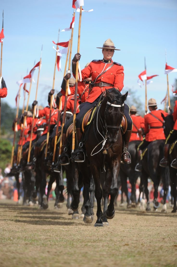 See the RCMP Musical Ride performance. The Musical Ride was first performed in 1887 and now it is one of the best-known Canadian symbols worldwide. http://www.rcmp-grc.gc.ca/mr-ce/centre-eng.htm