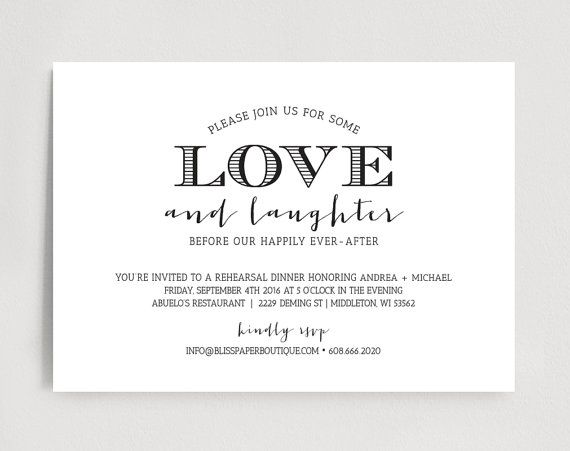 9 best Rehearsal Dinner Invitations images on Pinterest - dinner invitations templates