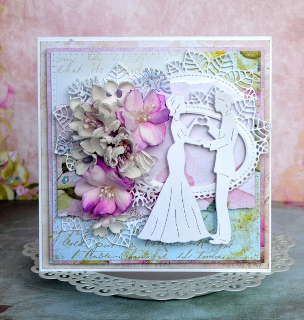 Blog Craft Passion: Kartka ślubna i dwa tutoriale :) / Wedding card and two tutorials :)