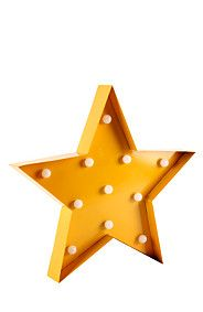 DECORATIVE VINTAGE LIGHT UP STAR WALL LIGHT