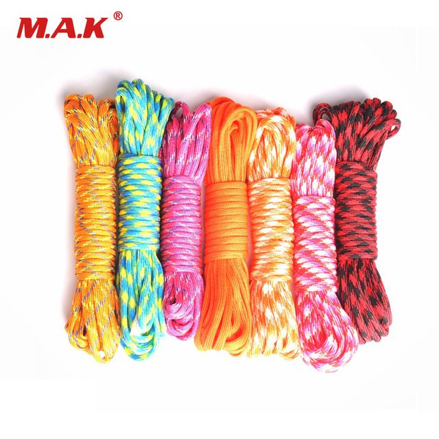 Outdoor 25ft 50ft 100ft 550 Paracord Parachute Cord Lanyard Rope