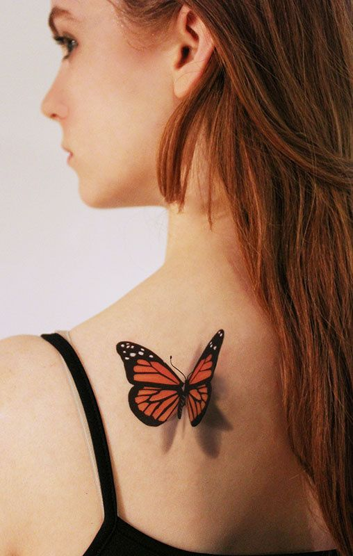 3D Butterfly Temporary Tattoo   looks like if just by TattooMint, $4.99  #3Dtattoo #temporarytattoo