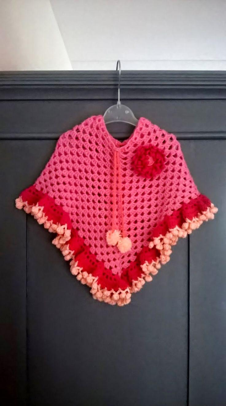 crochet poncho for girls: by Henja