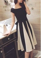 High Waist Bowknot Decorated Cutout Design Dress on sale only US$27.32 now, buy cheap High Waist Bowknot Decorated Cutout Design Dress at lulugal.com