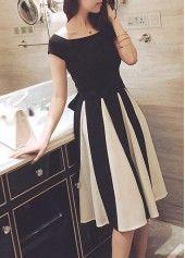 Stripe Print Long Sleeve Straight Dress on sale only US$27.79 now, buy cheap Stripe Print Long Sleeve Straight Dress at lulugal.com