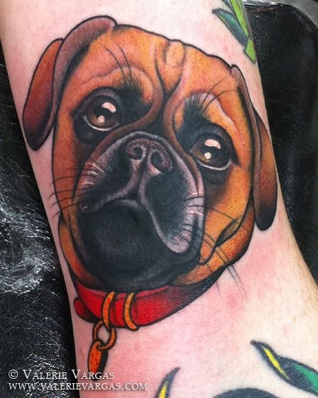 "Looks just like Demo! I can see Dustin getting this tat with ""Puggles for life"" under it! Bahahaha"
