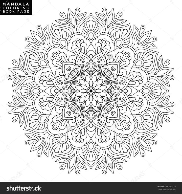 Mandala, Vector Mandala, Floral Mandala, Flower Mandala, Oriental Mandala, Coloring Mandala, Book Page Mandala, Outline Mandala, Template Mandala, Christmas Mandala, Indian Mandala, Wedding Mandala - 520047184 : Shutterstock