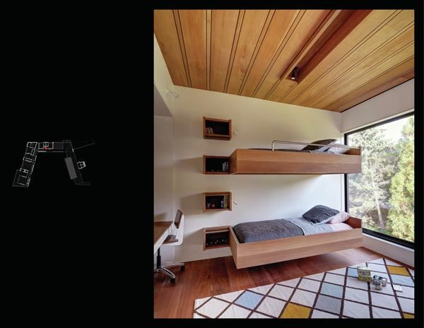 Beds Cantilever Off The Wall And Bookcases Double As A
