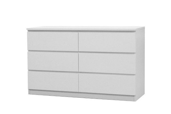 Buy Ovela 6 Drawer Dressing Chest (White) from Kogan.com. Store all your clothes, accessories and in this sleek, modern chest of drawers. Enjoy quality construction that lasts Fit all your belongings in the spacious drawers Enhance the look of any room The Ovela 6 Drawer Dressing Chest is solid and stylish, with six spacious roller drawers to hold all your clothes. With clean lines and a sleek finish, this chest of drawers will com....
