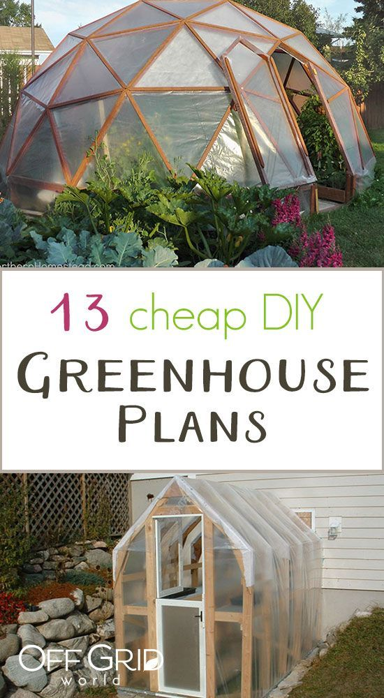 13 cheap diy greenhouse plans woodworking project ideas and rh pinterest com