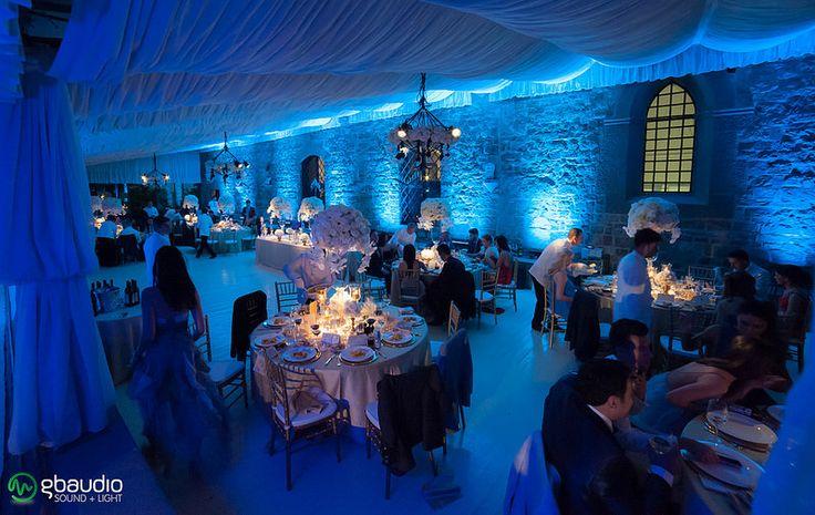 Lighting at Castello di Vincigliata