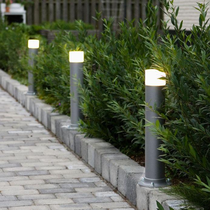 Frost LED Pullert 30 cm Grå Struktur