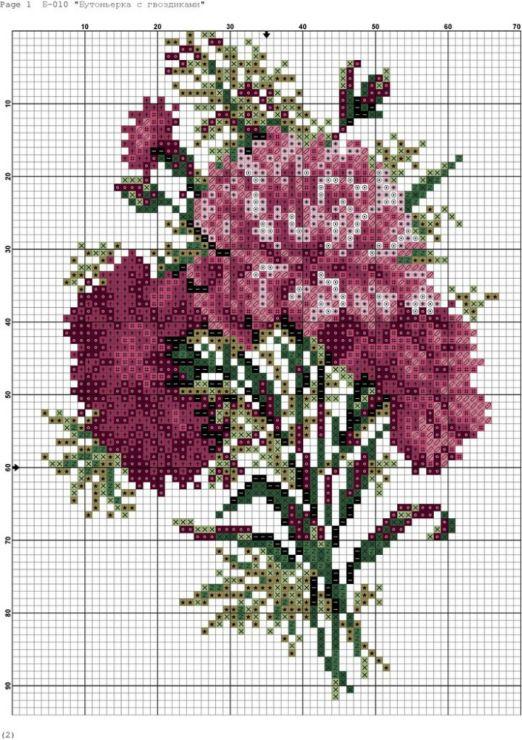 Cross stitch *♥* Fleurs