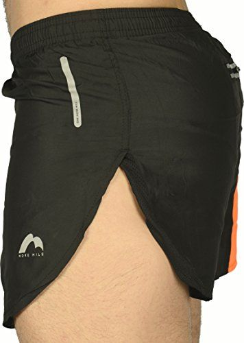 More Mile More-Tech Split Leg Mens Running Shorts