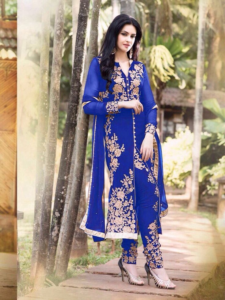 Buy Blue embroidered plazo suit on below link : http://uttamvastra.com/product-category/retail/ OR What's app contact on : 7069883833