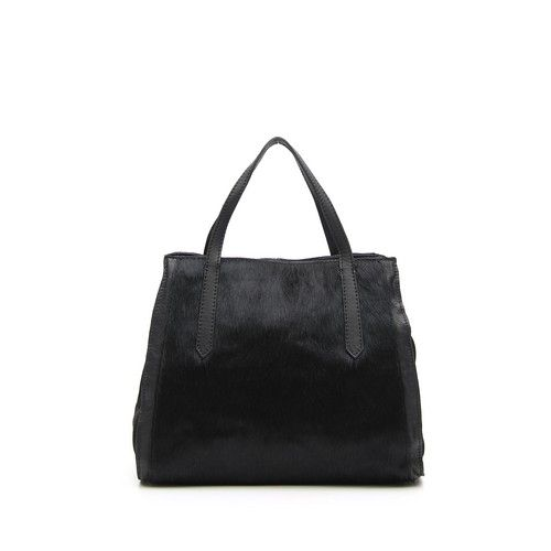 SHOPPING BAG IN PONY LEATHER