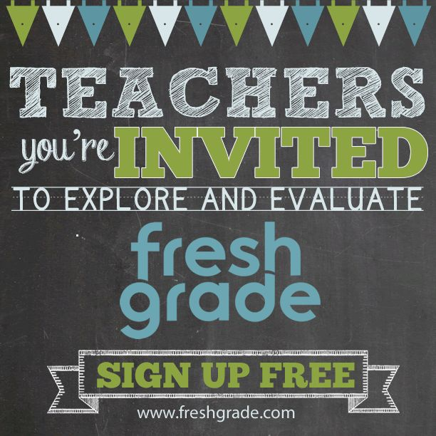 We are now inviting even more leading teachers to explore and help shape FreshGrade.  If you are interested in joining the conversation and helping us develop a product that tackles the challenges of the 21st century classroom, sign up for a free account now.   Just as formative feedback drives learning in the classroom, continual feedback is what drives FreshGrade. We're looking forward to collaborating with you.  Sign up free here: http://freshgrade.com/beta-sign-up/