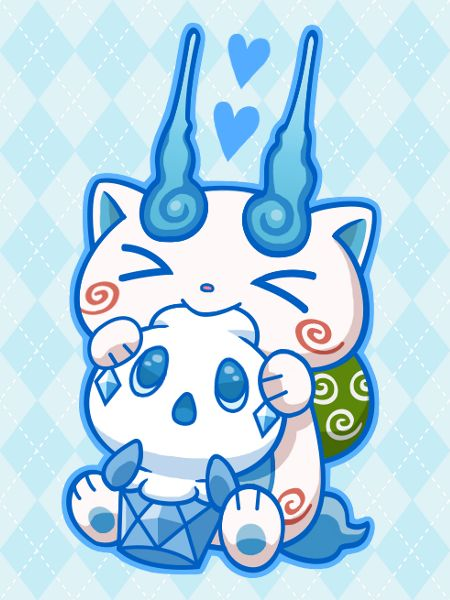 Yo-Kai Watch x Pokemon crossover | Komasan and Vanillite, Komasan loves Ice cream especially when it belongs to someone else