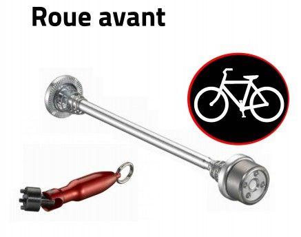 Antivol vélo pour roues de vélo - Anti-vol roue avant - Anti-Vandale pour bicyclettes