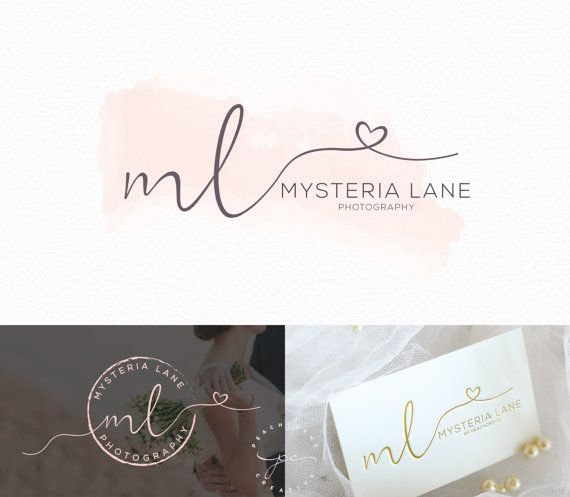 Watercolor Logo Design Custom Logo Design Custom by PeachCreme