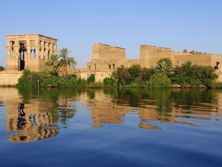 """Philae Island was a rocky island in the middle of the River Nile, south of Aswan . It was called in Hieroglyphic """"Apo"""" which means Ivory. It was also known by the Greek """"Elephantine"""", most probably because it was an important centre of trade, especially for ivory. The Ancient Egyptians built a beautiful and magnificent Temple of the goddess Isis, the wife of Osiris and mother of Horus."""