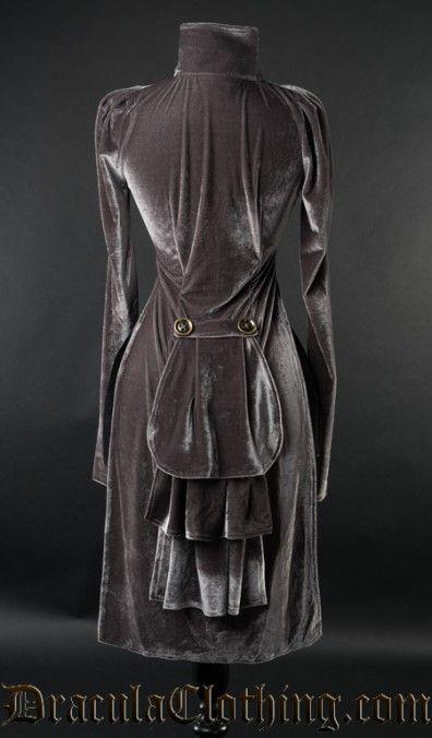 Grey Openbust Tailcoat
