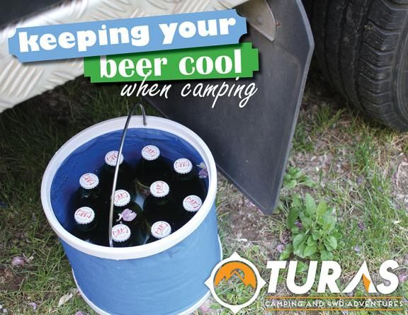There is nothing worse than pulling into to camp and having to drink a warm beer.Not everyone has the luxury of a fridge freezer in their 4WD, but there are some simple alternatives, a collapsible
