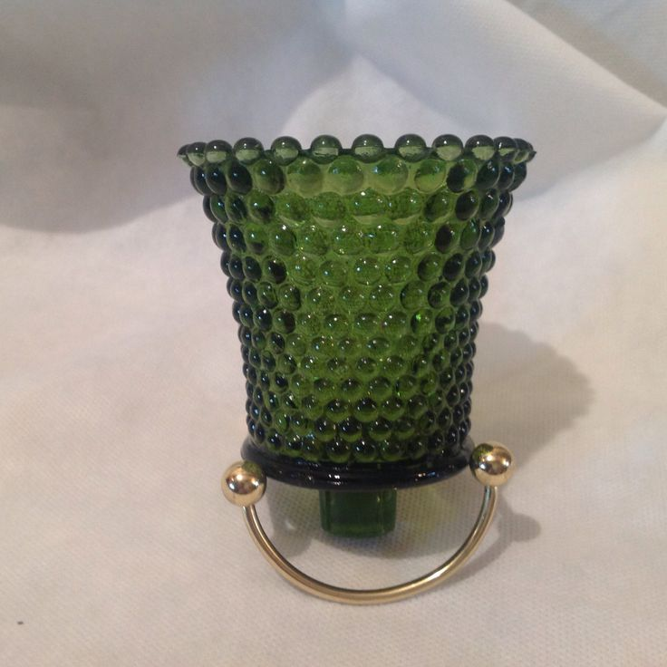 Green hobnail votives, dark green candle holders for sconces, avocado hobnail votive cups, sconce candle holders by SusieQsRetroShop on Etsy https://www.etsy.com/listing/256986453/green-hobnail-votives-dark-green-candle