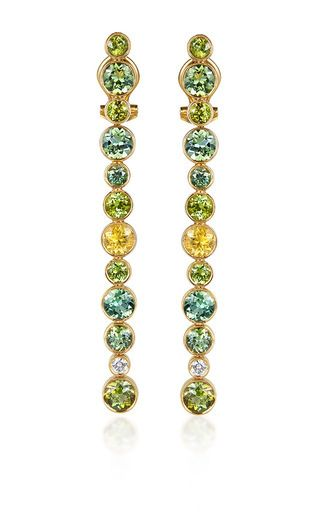 Line Earrings With Tourmalines by ELENA VOTSI for Preorder on Moda Operandi