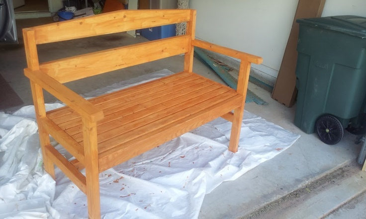 DIY Garden Bench- would like to make this
