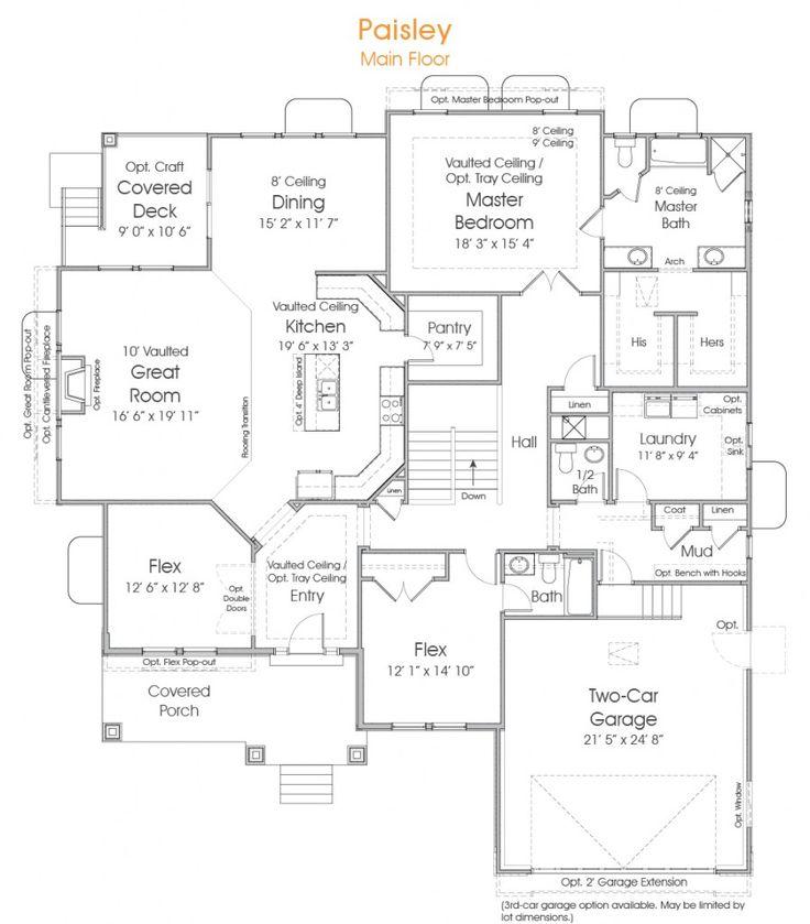 Paisley utah rambler floor plan edge homes wish list for Utah floor plans