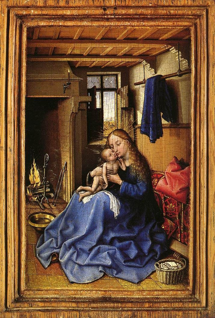 Virgin and Child in an Interior by Robert Campin