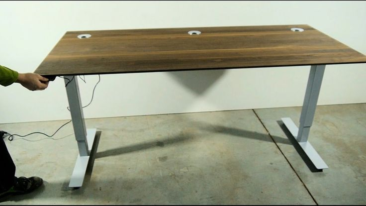 Eichenfrau höhenverstellbarer Schreibtisch form113