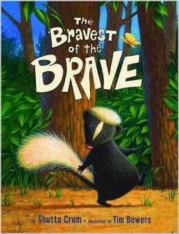 Check out this beautiful, rhyming story of a tiny skunk who is walking home through the forest and finding ways to overcome his fear of the dark. Written by Shutta Crum, it helps children who are afraid of the dark.